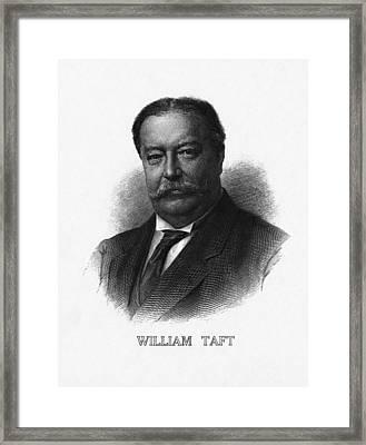 Us Presidents. Us President William Framed Print by Everett