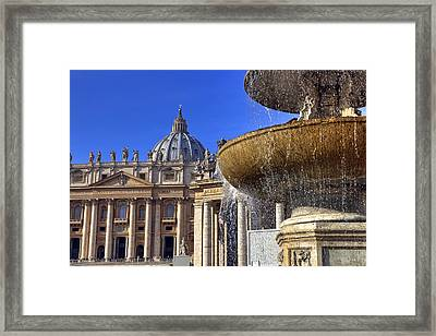 Vatican - St. Peter's Square Framed Print by Joana Kruse