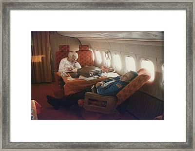 Vice President And Barbara Bush Framed Print by Everett