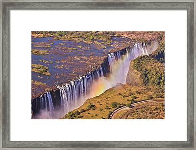 Victoria Falls Framed Print by Rob Verhoeven & Alessandra Magni