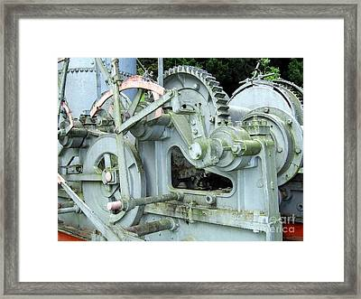 Vintage Steam Powered Lumber Collector Framed Print by Yali Shi
