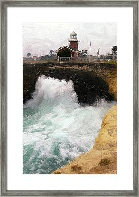 Wave Power Framed Print by Ron Regalado