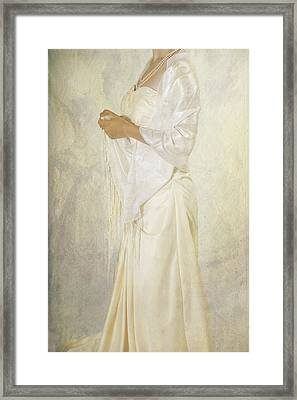 Wedding Dress Framed Print by Joana Kruse