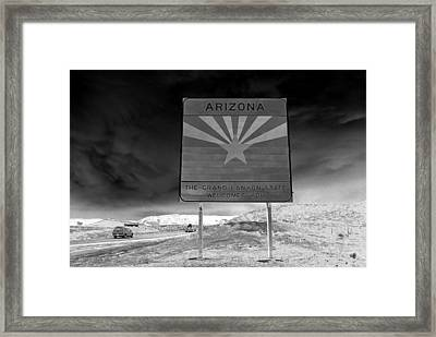Welcome Sign Framed Print by David Lee Thompson