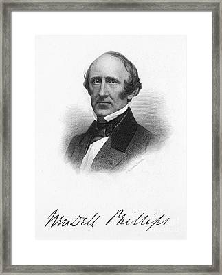 Wendell Phillips (1811-1884) Framed Print by Granger