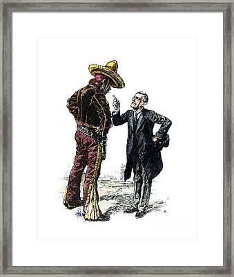 Wilson & Mexico, 1913 Framed Print by Granger