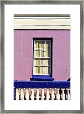 Windows Of Bo-kaap Framed Print by Benjamin Matthijs