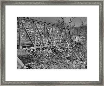 Winter Bridge Framed Print by David Bearden