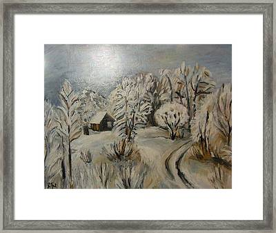 Winter Landscape Framed Print by Sanja  Prsic
