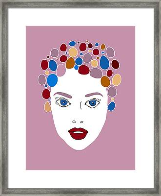 Woman In Fashion Framed Print by Frank Tschakert