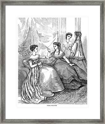 Womens Fashion, 1867 Framed Print by Granger