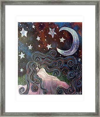 Wonder Of Night Framed Print by Monica Furlow