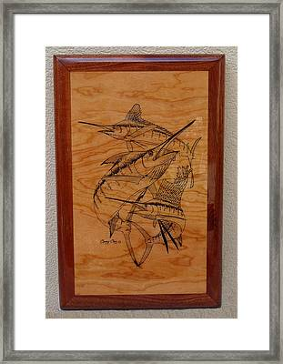 Wood Work Furniture Framed Print by Carey Chen