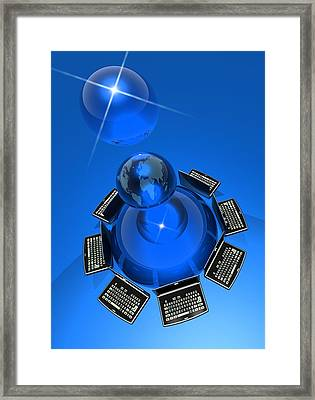 World Wide Web, Conceptual Artwork Framed Print by Victor Habbick Visions