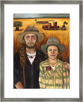 Zeb And Ellen Framed Print by Leah Saulnier The Painting Maniac