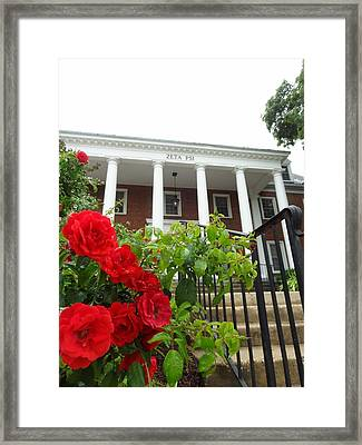 Zeta Psi Framed Print by Christopher Kerby
