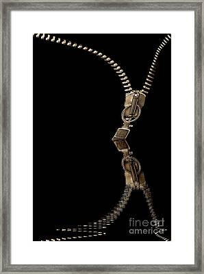 Zipper Reflection Framed Print by Odon Czintos