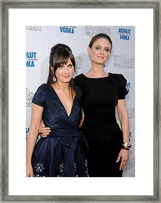 Zooey Deschanel, Emily Deschanel Framed Print by Everett