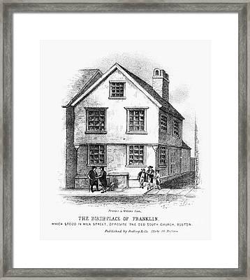 Benjamin Franklin Framed Print by Granger