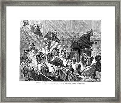 Brigham Young (1801-1877) Framed Print by Granger