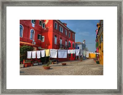 Burano - Venice - Italy Framed Print by Joana Kruse
