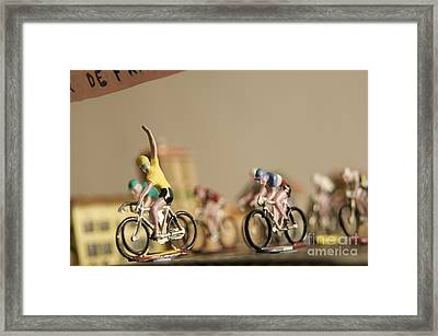 Cyclists Framed Print by Bernard Jaubert