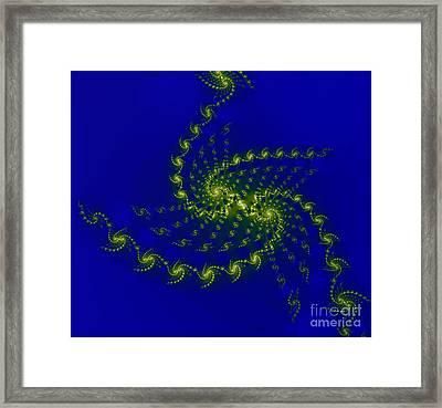 Light Fractal Framed Print by Odon Czintos