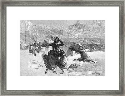 New York: Blizzard Of 1888 Framed Print by Granger