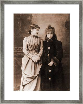 Sarah Bernhardt 1844-1923, French Framed Print by Everett