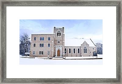 1001-0369 Cherry Street Baptist Of Clarksville Framed Print by Randy Forrester