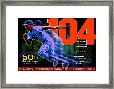104 Framed Print by Ron Regalado