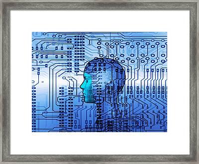 Artificial Intelligence Framed Print by Mehau Kulyk