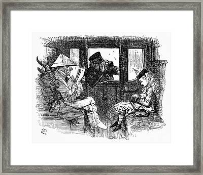 Carroll: Looking Glass Framed Print by Granger