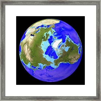 Earth Framed Print by Friedrich Saurer