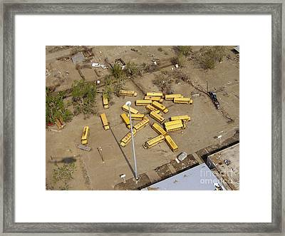 Hurricane Katrina Damage Framed Print by Science Source