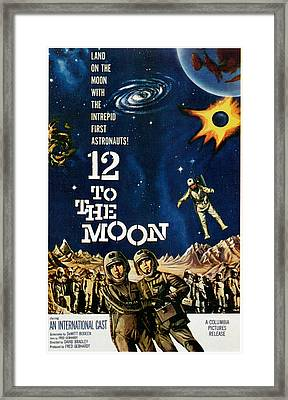 12 To The Moon, 1960 Framed Print by Everett