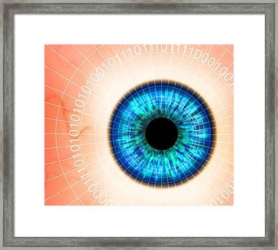 Biometric Eye Scan Framed Print by Pasieka