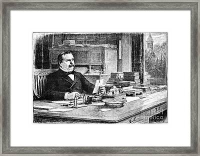 Grover Cleveland Framed Print by Granger