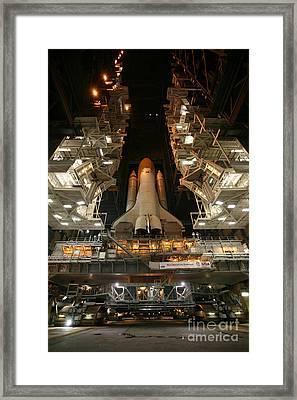 Space Shuttle Endeavour Framed Print by Stocktrek Images