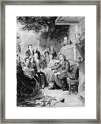 Friedrich Schiller Framed Print by Granger