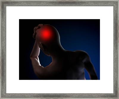 Headache, Conceptual Artwork Framed Print by Sciepro