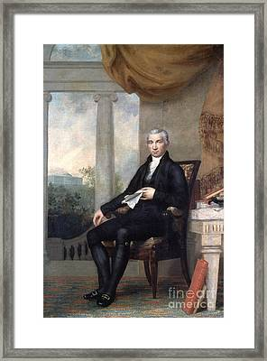James Monroe (1758-1831) Framed Print by Granger