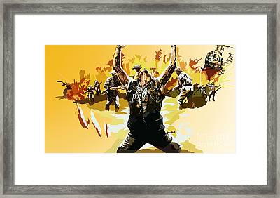145.  Take The Pain Framed Print by Tam Hazlewood