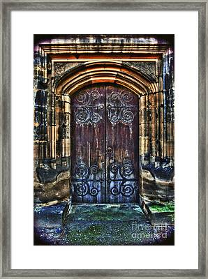 14th Century Door Framed Print by Yhun Suarez
