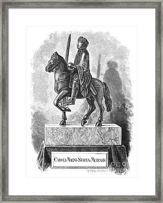 Charlemagne (742-814) Framed Print by Granger