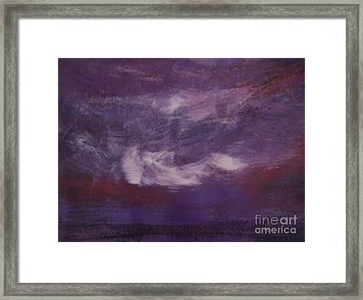 Seascape Sunset Framed Print by Lam Lam