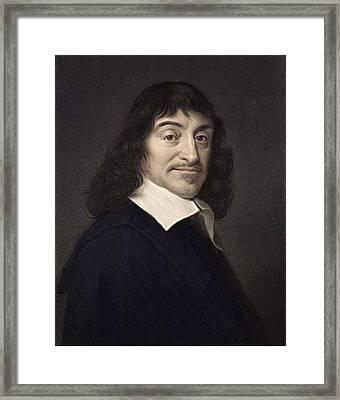 1649 Rene Descartes Portrait Philosopher Framed Print by Paul D Stewart