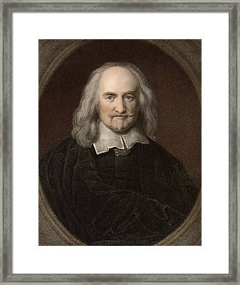 1660 Thomas Hobbes English Philosopher Framed Print by Paul D Stewart