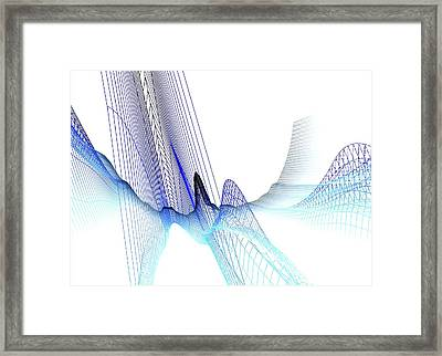 Abstract Line Pattern Framed Print by Pasieka