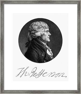 Thomas Jefferson (1743-1826) Framed Print by Granger